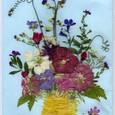 ミセス・ローズさんの押し花絵封筒 ~花瓶に生けた花