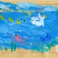 れんげさんの絵封筒(2) ~タコの昼休み
