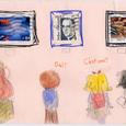 れんげさんの絵封筒(1) ~美術館