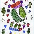 yukikoちゃんの絵手紙 ~ドングリの家族